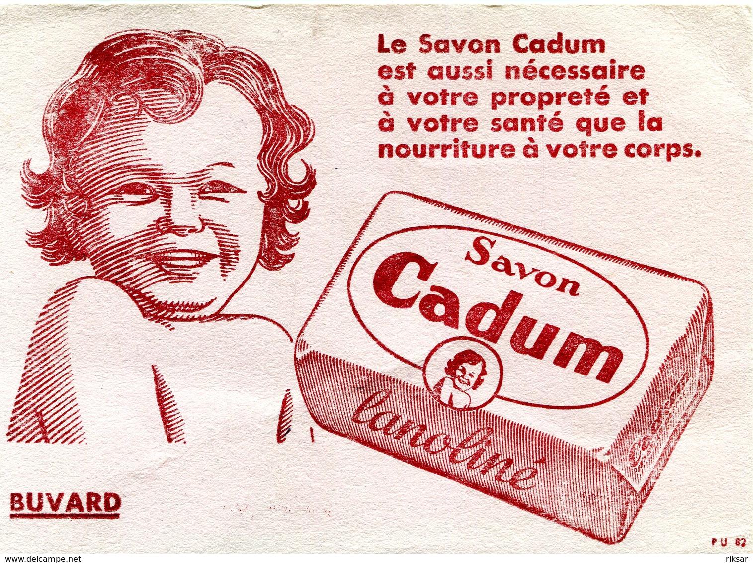 BUVARD(SAVON CADUM) - Buvards, Protège-cahiers Illustrés