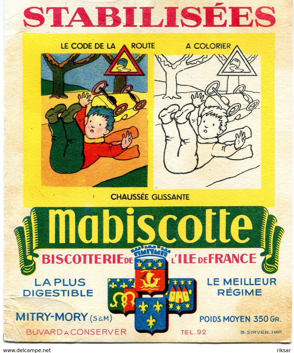 BUVARD(BISCOTTE MABISCOTTE) MITRY MORY - Biscottes