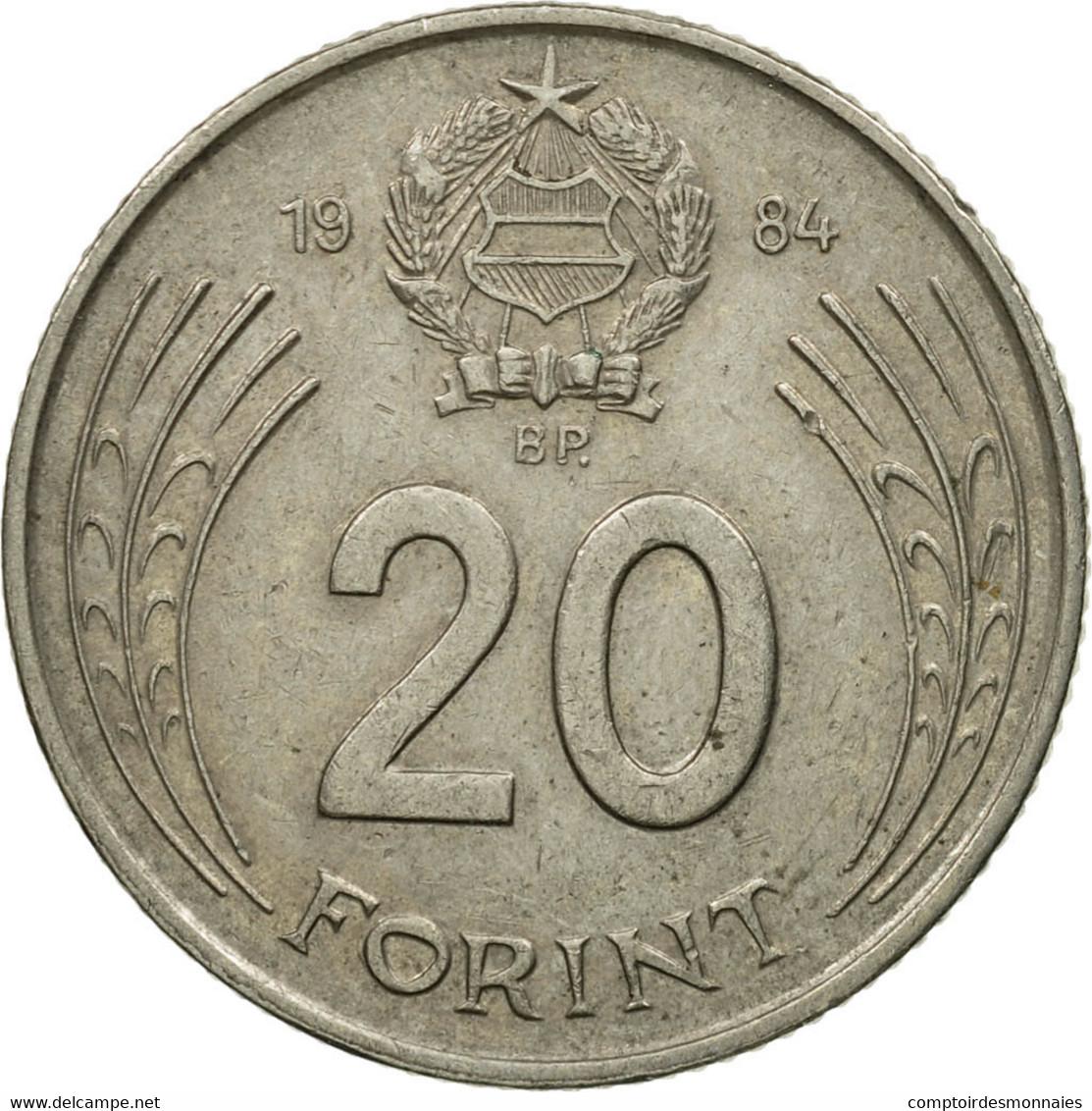 Monnaie, Hongrie, 20 Forint, 1984, TTB, Copper-nickel, KM:630 - Hongrie