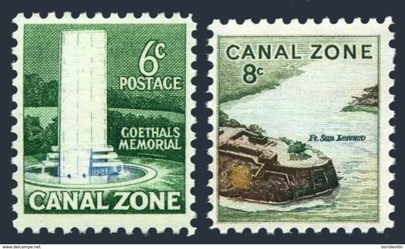 USA Panama Canal Zone 158-159,MNH.Michel 167-168. Goethals Memorial,Balboa; Fort San Lorenzo. - Monuments