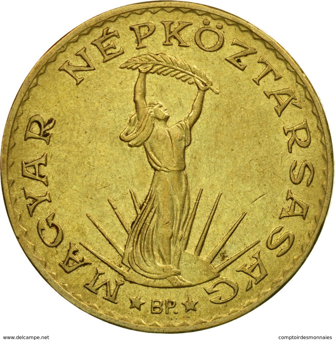 Monnaie, Hongrie, 10 Forint, 1989, TTB, Aluminum-Bronze, KM:636 - Hungary