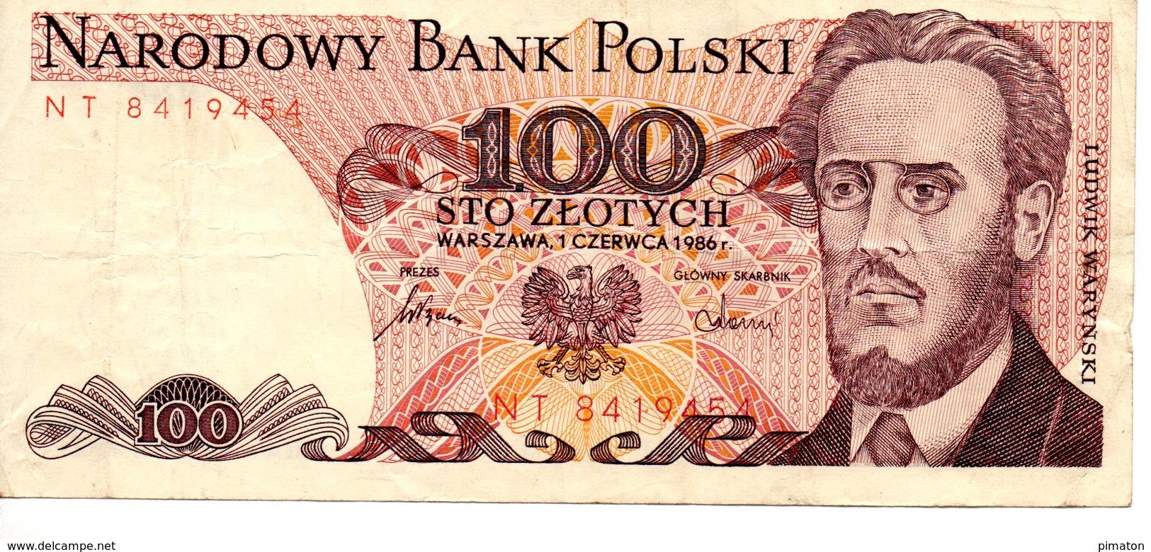 1988 P-143e Unc Poland 100 Zlotych