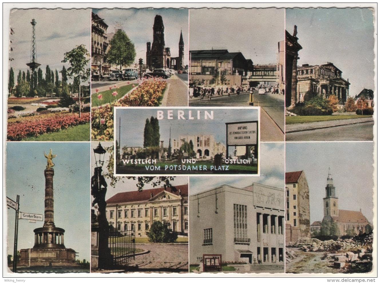 Berlin - Mehrbildkarte 389   Westlich Und Östlich Vom Potsdamer Platz - Autres