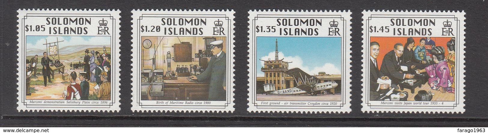 1994 Solomon Islands Marconi Radio Aviation Plane Complete Set Of 4   MNH - Solomon Islands (1978-...)