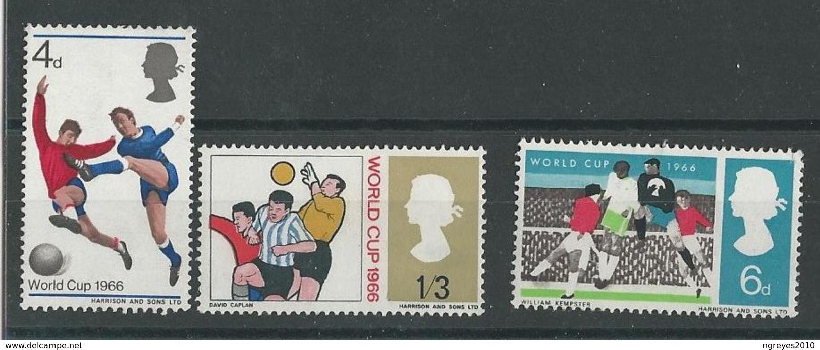 180030524  GRAN BRETAÑA  YVERT  Nº  441/3  */MH - 1952-.... (Elizabeth II)