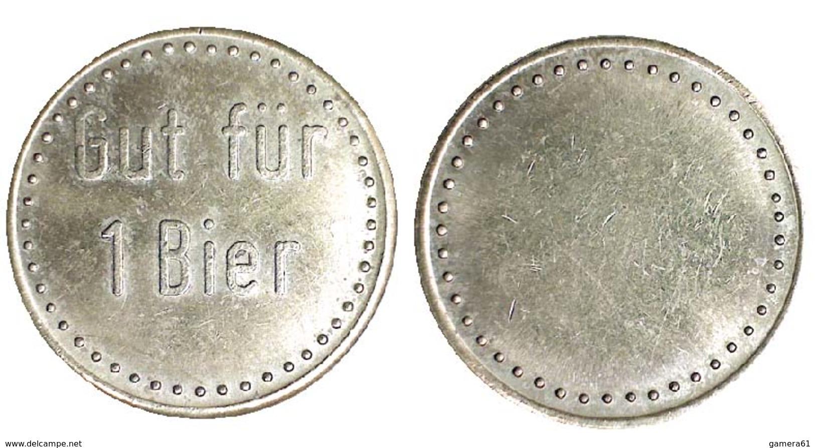 05236 GETTONE TOKEN JETON VENDING KANTINE BIER GUT FUR 1 BIER BRASS - Allemagne