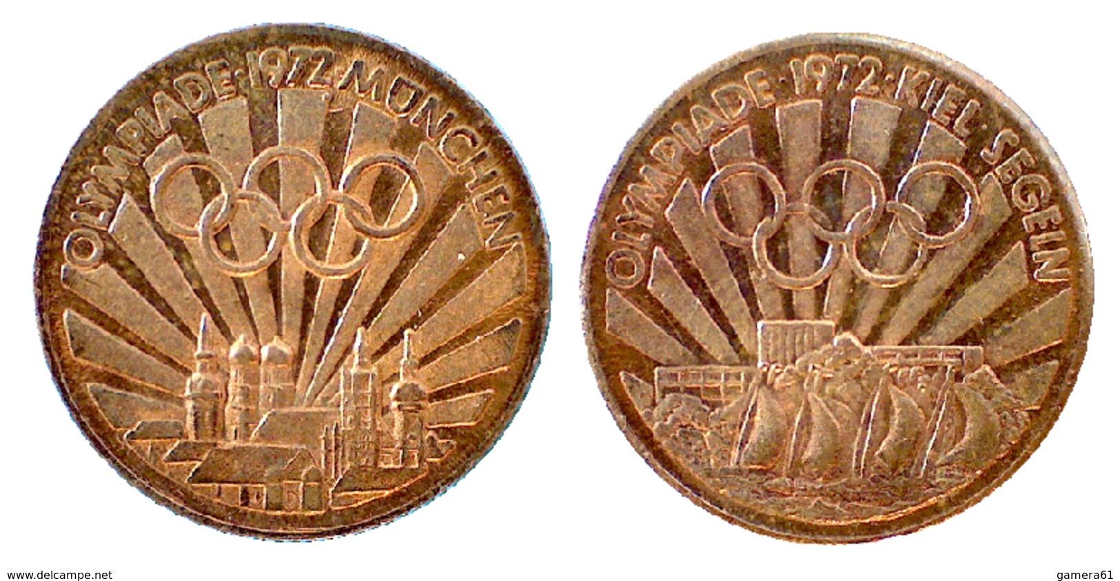 04644 GETTONE TOKEN JETON COMMEMORATIVE OLYMPIADE 1972 MUNCHEN - Allemagne