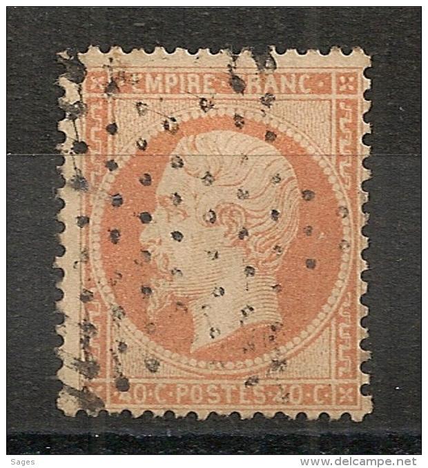 ETOILE PLEINE De PARIS Sur 40C - 1862 Napoleon III