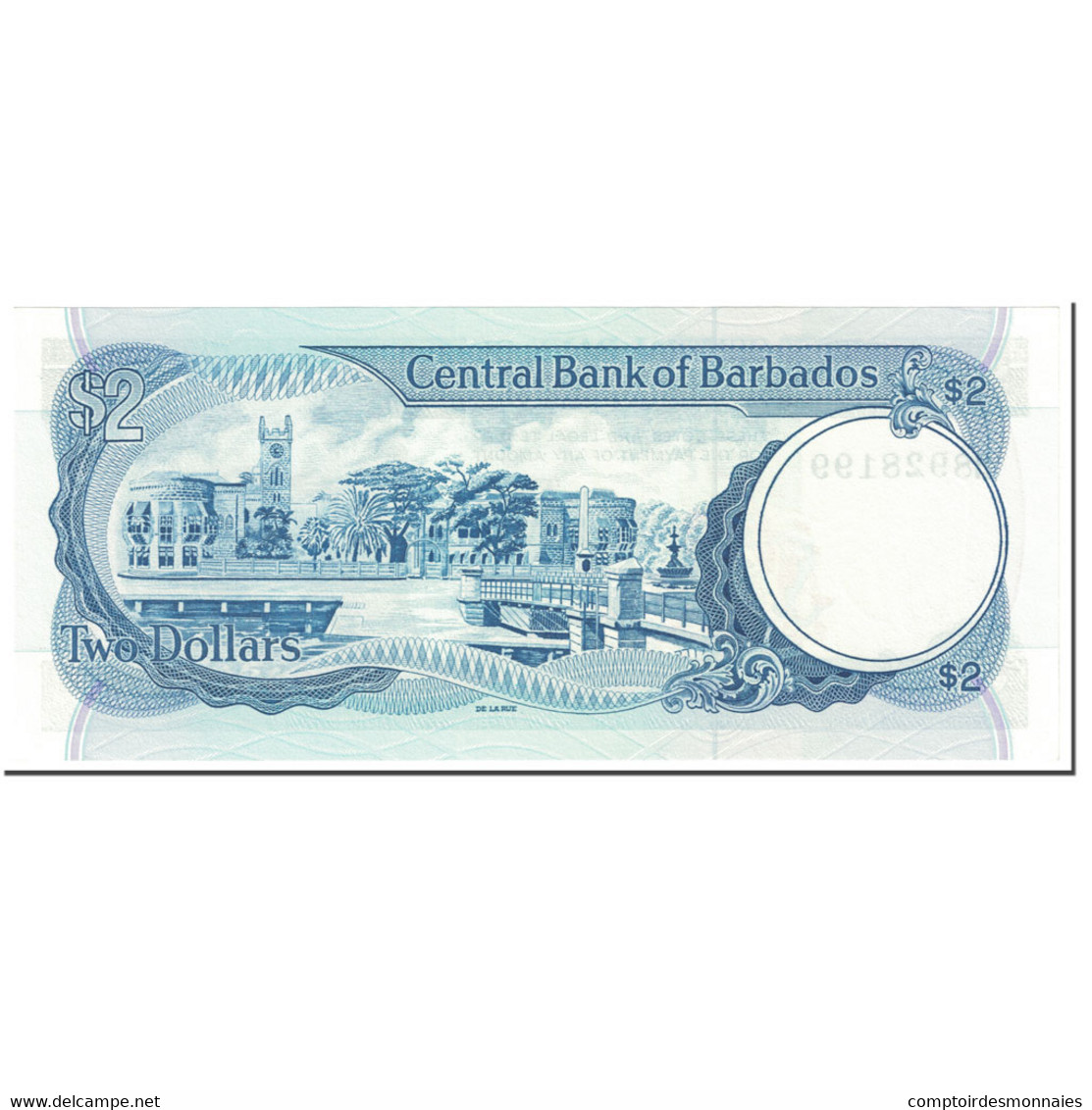 Billet, Barbados, 2 Dollars, 1986, Undated (1986), KM:36, NEUF - Barbados