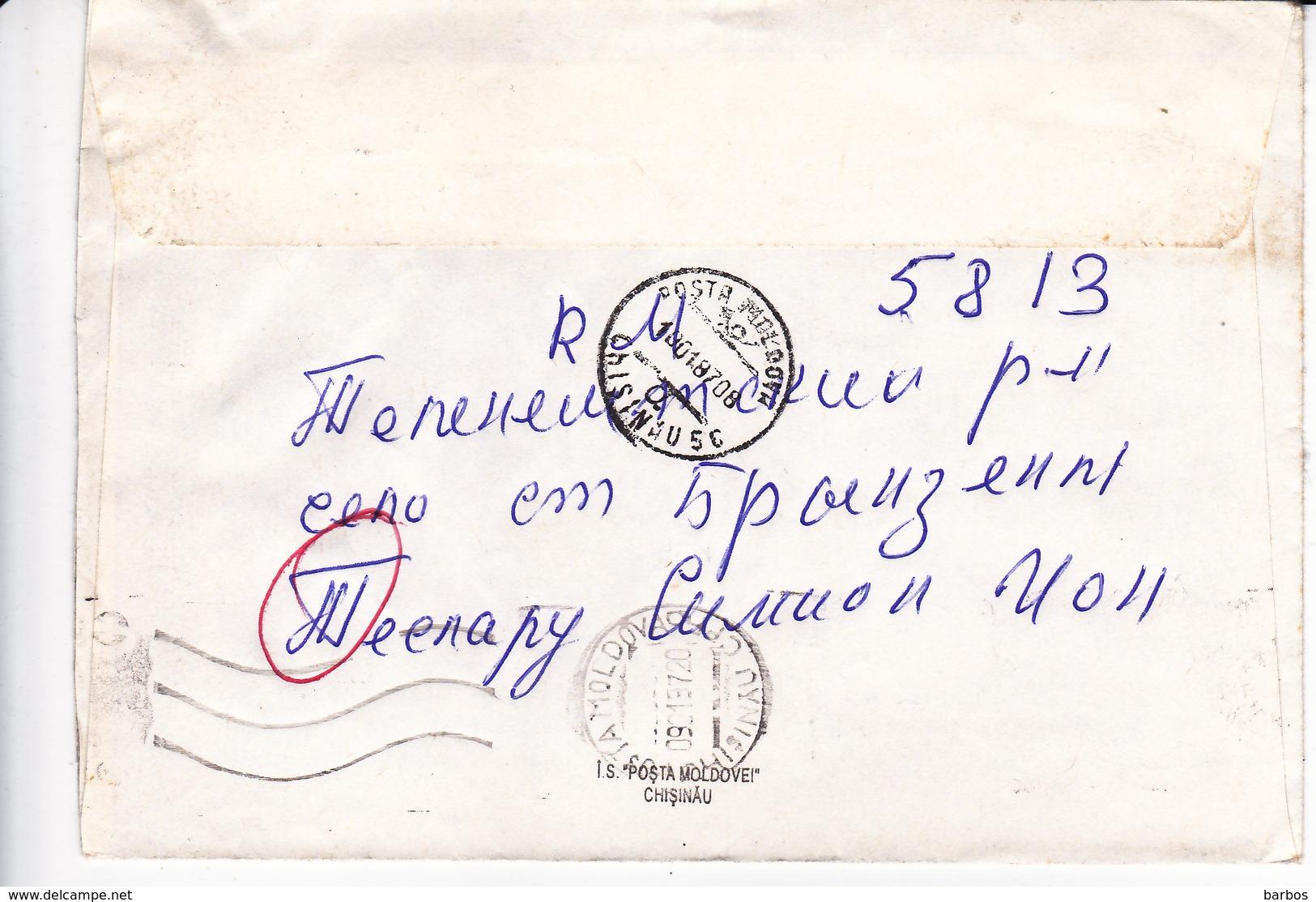 1997 , MOLDOVA , MOLDAVIE ,  MOLDAWIEN ,  MOLDAU , Cinema , Postal History , Used  Cover - Moldova