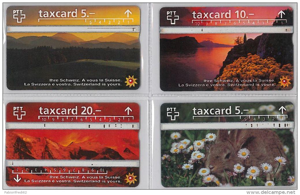 LOT 4 PHONE CARD- SVIZZERA (E26.12.5 - Svizzera