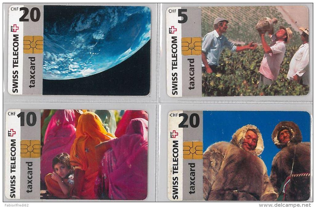 LOT 4 PHONE CARD- SVIZZERA (E26.16.1 - Schweiz