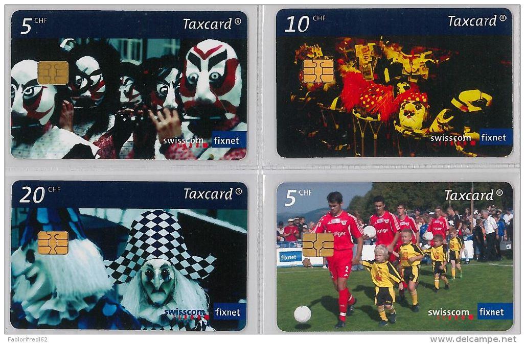 LOT 4 PHONE CARD- SVIZZERA (E26.20.1 - Svizzera