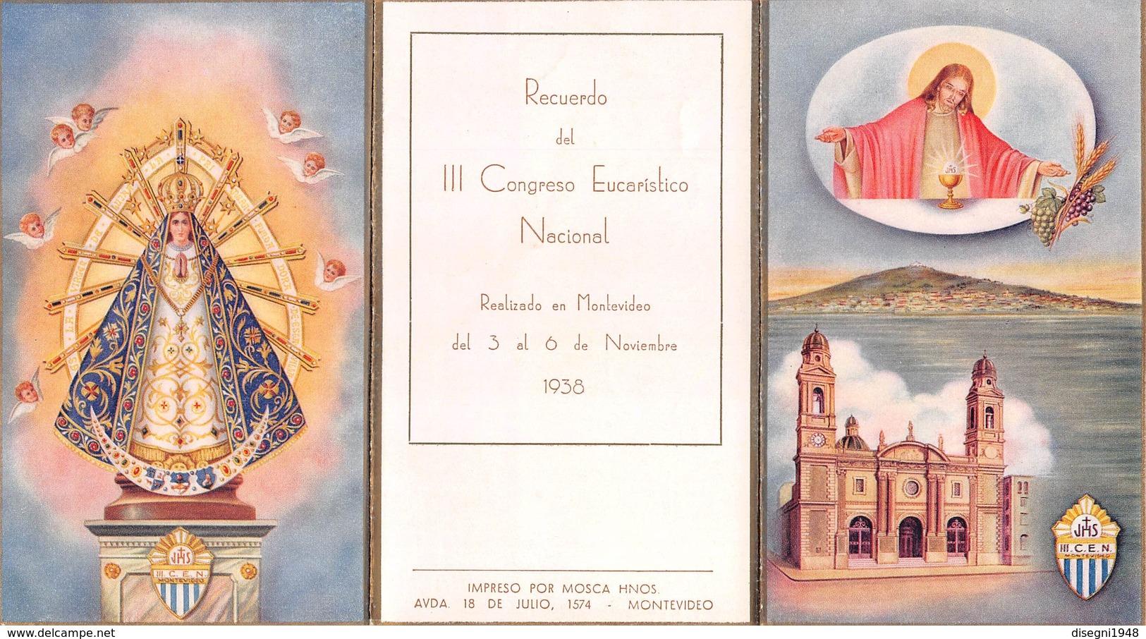 "07460 ""RECUERDO DEL III CONGRESO EUCAURISTICO NACIONAL  - MONTEVIDEO - URUGUAY - NOVEMBRE 1938"" IMM. RELIG. ORIG. - Santini"
