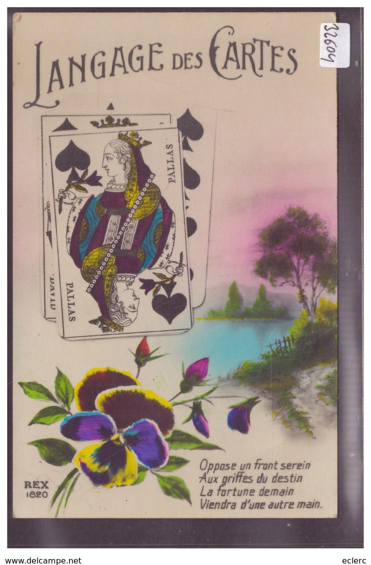 LANGAGE DES CARTES - DAME DE PIQUE - TB - Fancy Cards