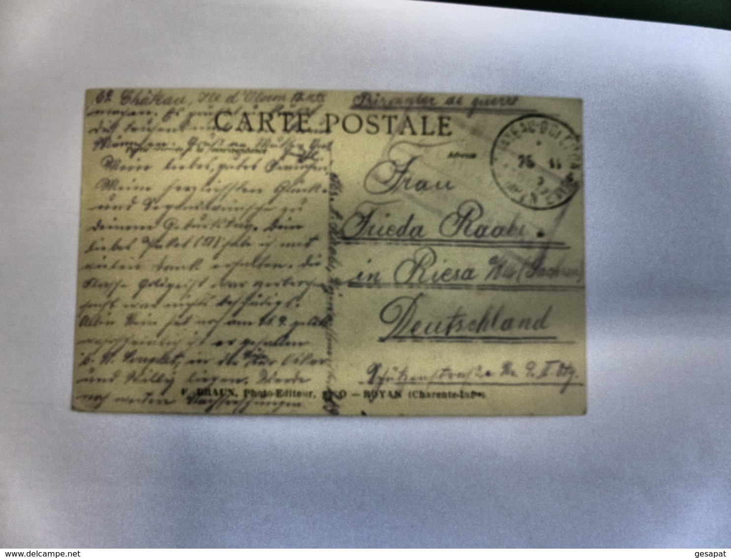 ILE D'OLERON - LE CHATEAU - Prisonniers De Guerre Allemands Au Travail  N° 3278 - Ile D'Oléron