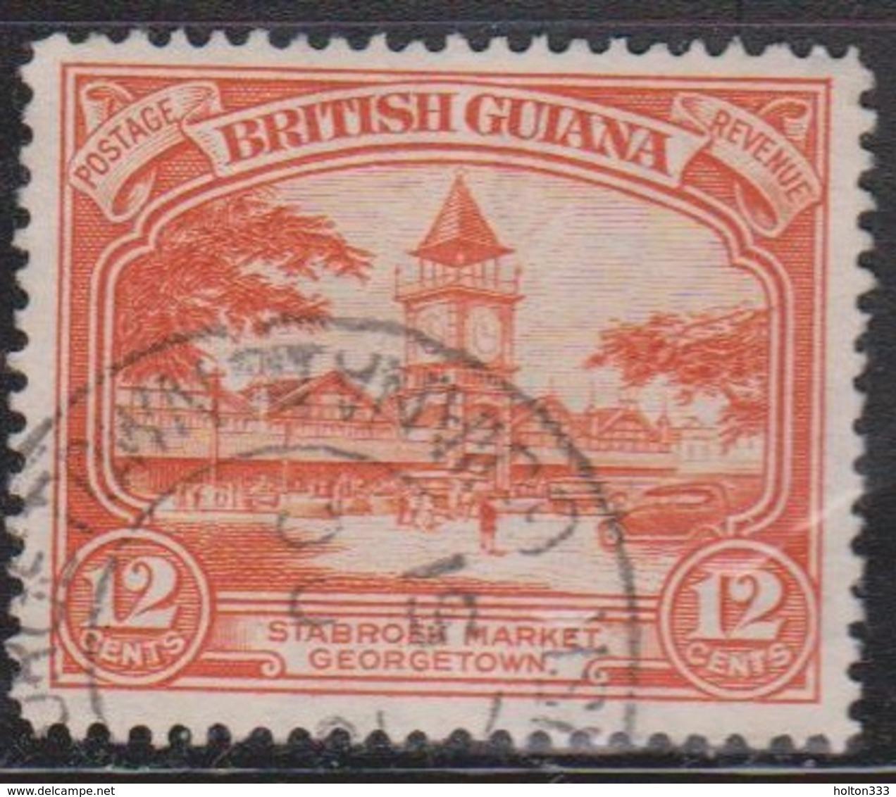 BRITISH GUIANA Scott # 215 Used - KGV & Stabroek Market, Georgetown - British Guiana (...-1966)