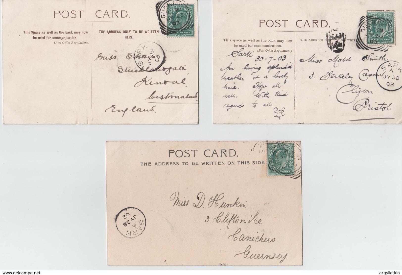 CHANNEL ISLANDS SARK PICTURE POSTCARDS 1902-1903 - Sark