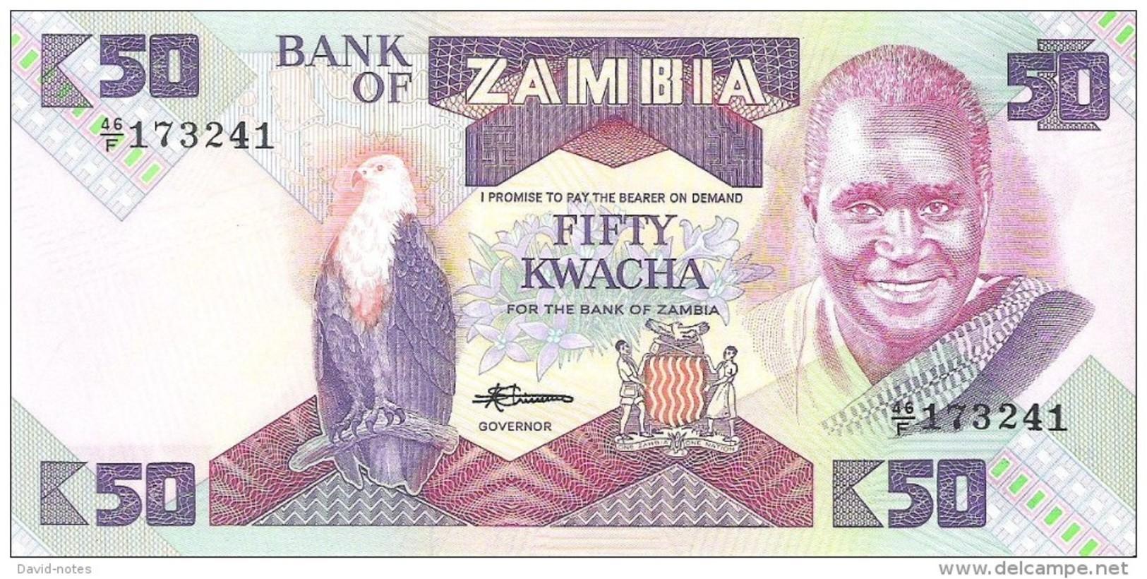 Zambia - Pick 28a - 50 Kwacha 1986-1988 - Unc - Zambie