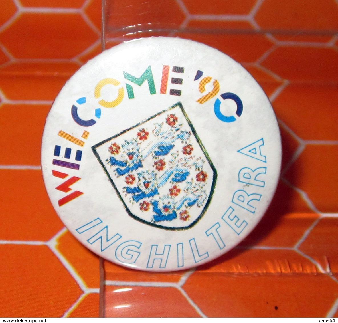 WELCOME '90 INGHILTERRA MONDIALI CALCIO ITALIA '90 PIN SPILLA - Calcio