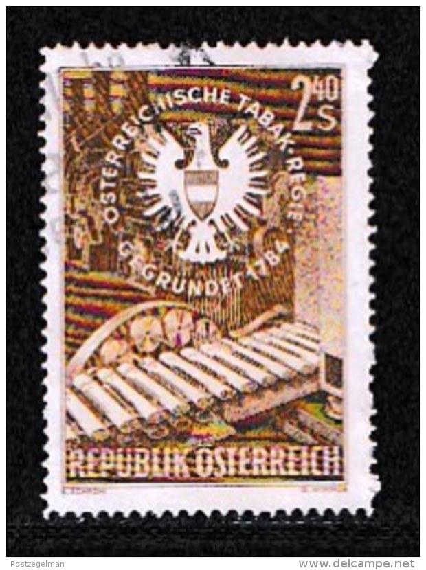 AUSTRIA, 1959, Cancelled Stamp(s) , Monopoly Emblem And Cigars, Mi 1060,  Scan U15068, - 1945-.... 2nd Republic