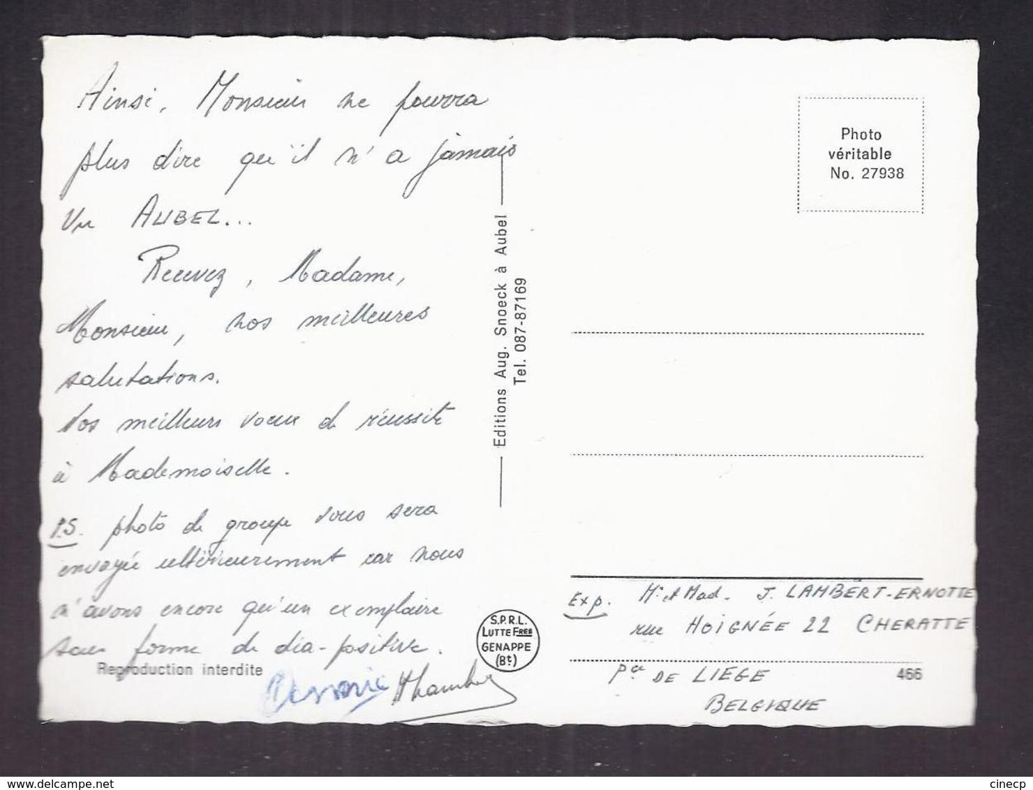 CPSM BELGIQUE - AUBEL - Place Antoine ERNST - TB PLAN CENTRE MAGASINS AUTOMOBILES - Aubel