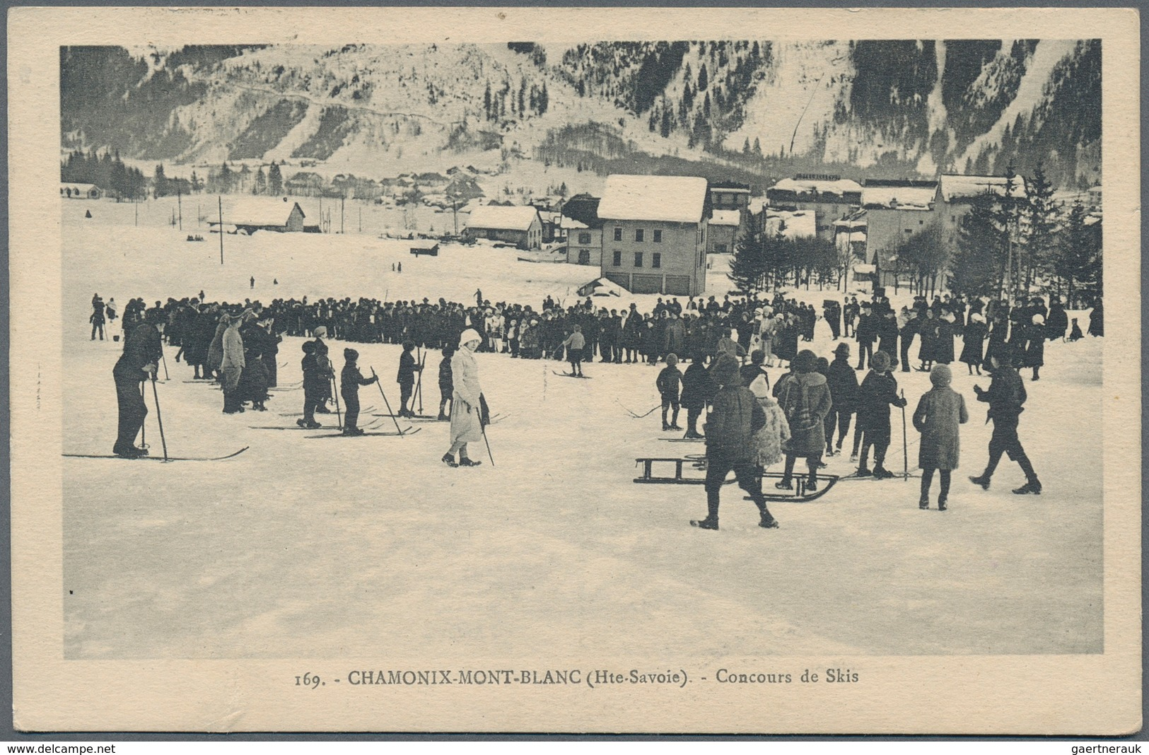 """Thematik: Olympische Spiele / Olympic Games: 1924, France For Chamonix '24. Rare Machine Cancel """"Spo - Olympic Games"""