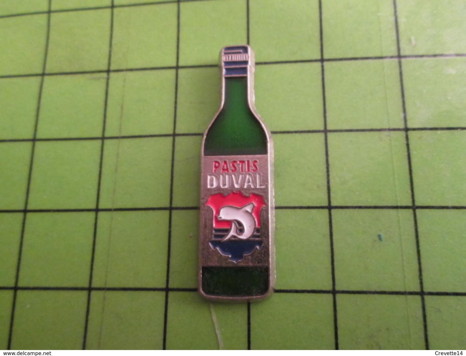 718A Pin's Pins / Beau Et Rare : Thème BOISSON : JOLIE BOUTEILLE ANISETTE DUVAL - Beverages