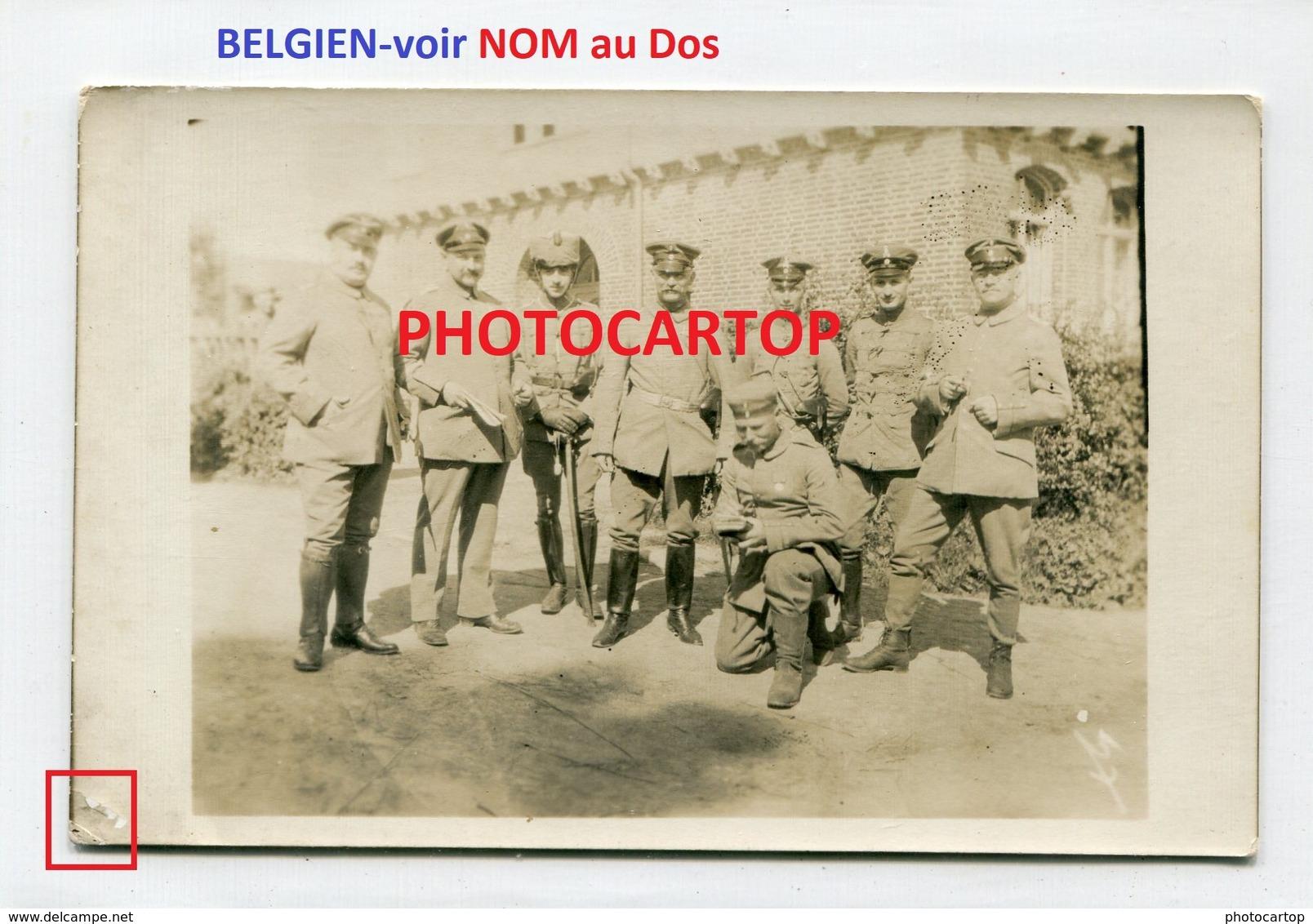 NON SITUEE-NOM Au DOS-Devant ECOLE-CARTE PHOTO Allemande-Guerre 14-18-1WK-Militaria-BELGIEN- - Belgique