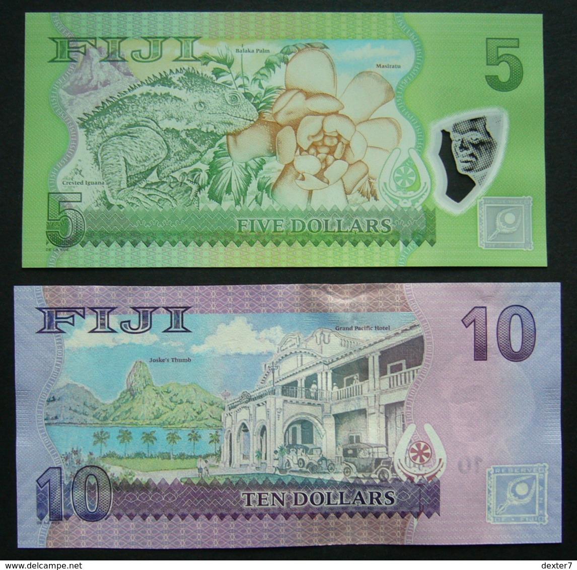 Figi 5 E 10 Dollar Dollars 2012 - 2x Set UNC FdC - Fidji