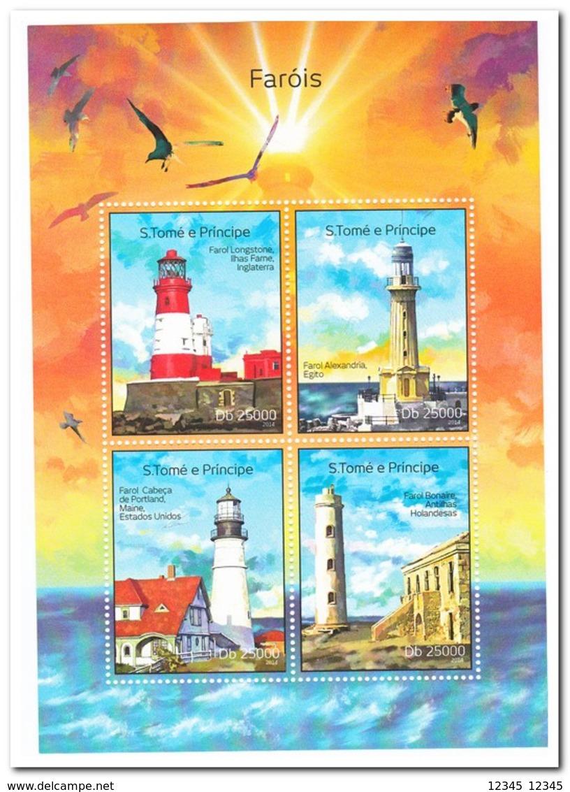 Sao Tome & Principe 2014, Postfris MNH, Lighthouses - Sao Tome En Principe