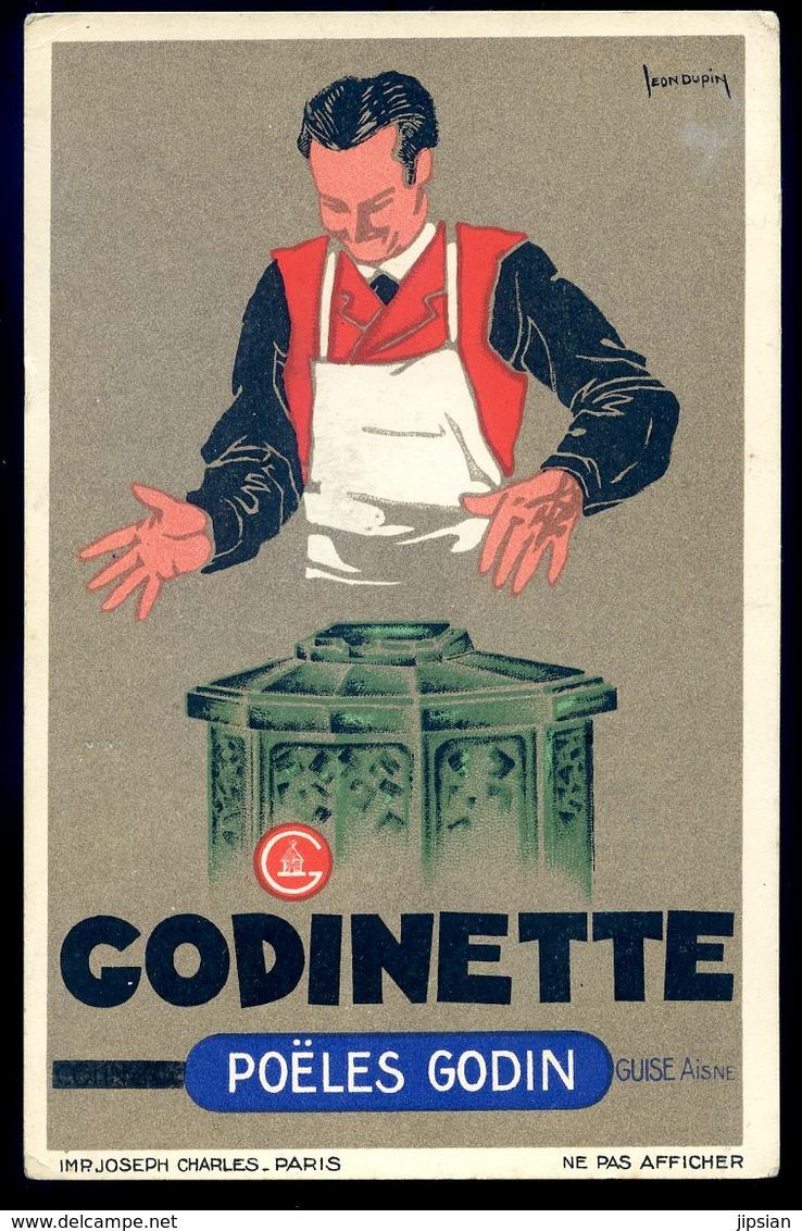 Cpa Publicité Godinette Poëles Godin Illustrateur  Léon Dupin  Sept18-08 - Publicité