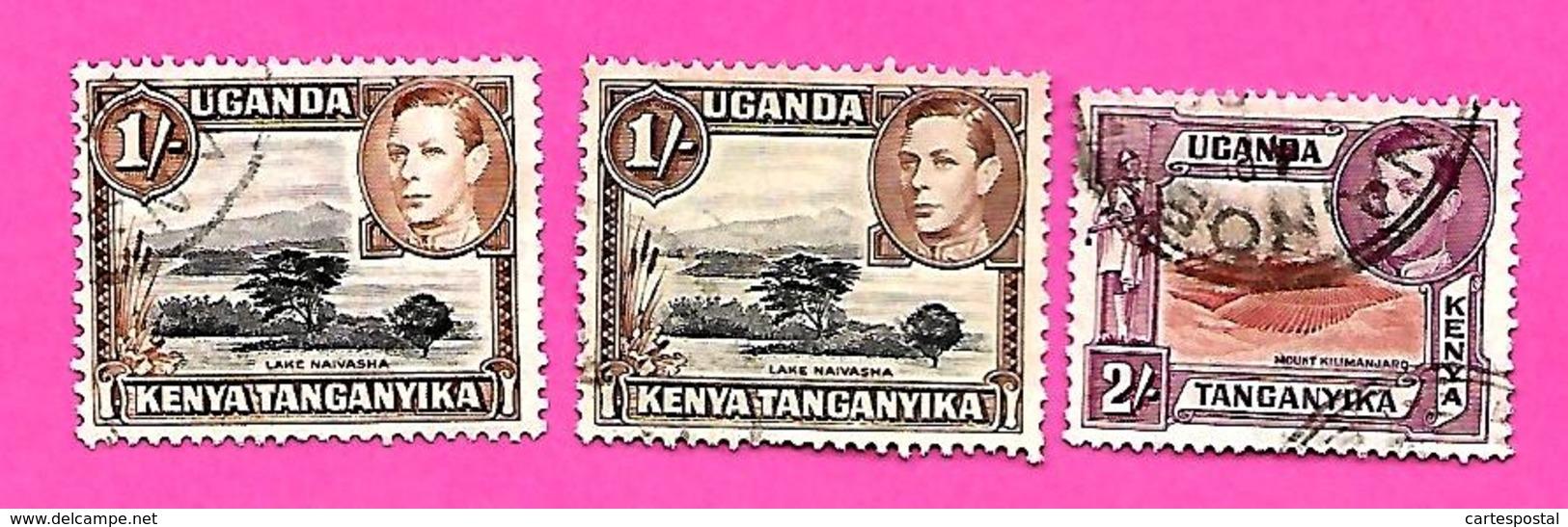 3259  --  KENYA-OUGENDA  --  1937  N° 41+42  Oblitérés - Kenya (1963-...)