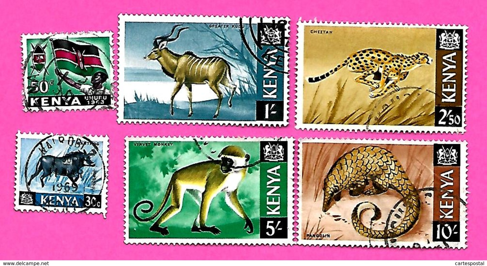3261  --  KENYA  --  1963+66   Lot  De  Timbres   Oblitérés - Kenya (1963-...)