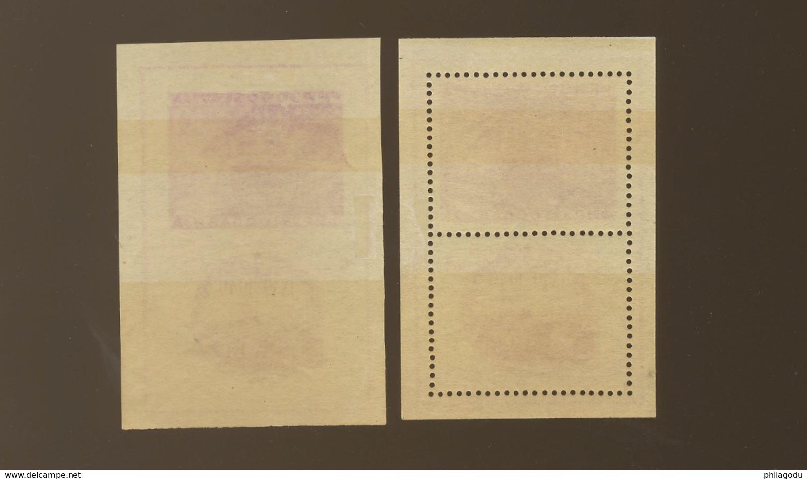 1949 Blocs 3 Dent Et Non Dentelés *. Cote 320,-euros - Blocs-feuillets