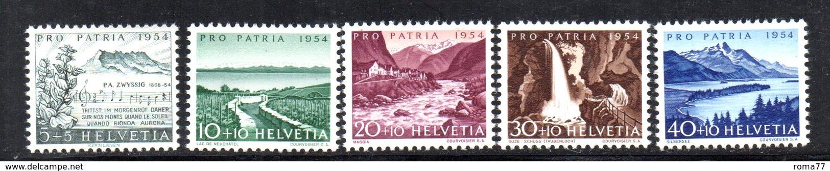304/1500 - SVIZZERA 1954 , Unificato N. 548/552  ***  MNH  Pro Patria - Pro Patria
