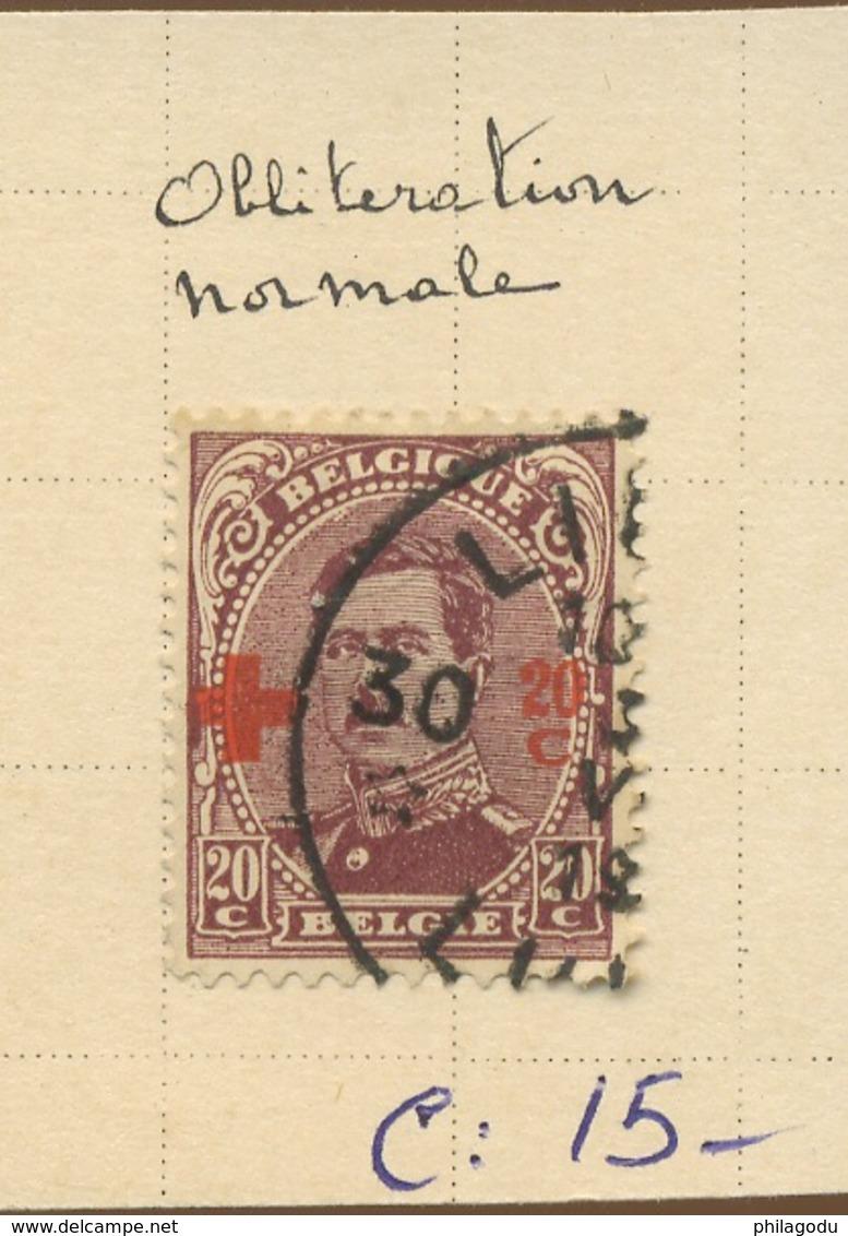 156 20c  154 Oblitéré  Cote 15,-E - 1918 Red Cross