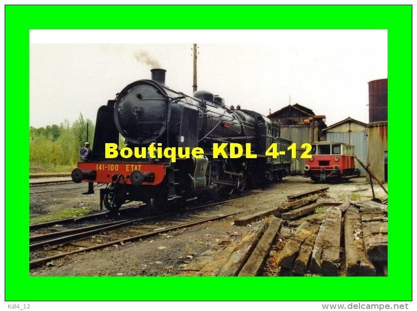 AL 407 - Loco Mikado Etat 141 C 100 Au Dépôt - RICHELIEU - 37 - TVT - Sonstige Gemeinden