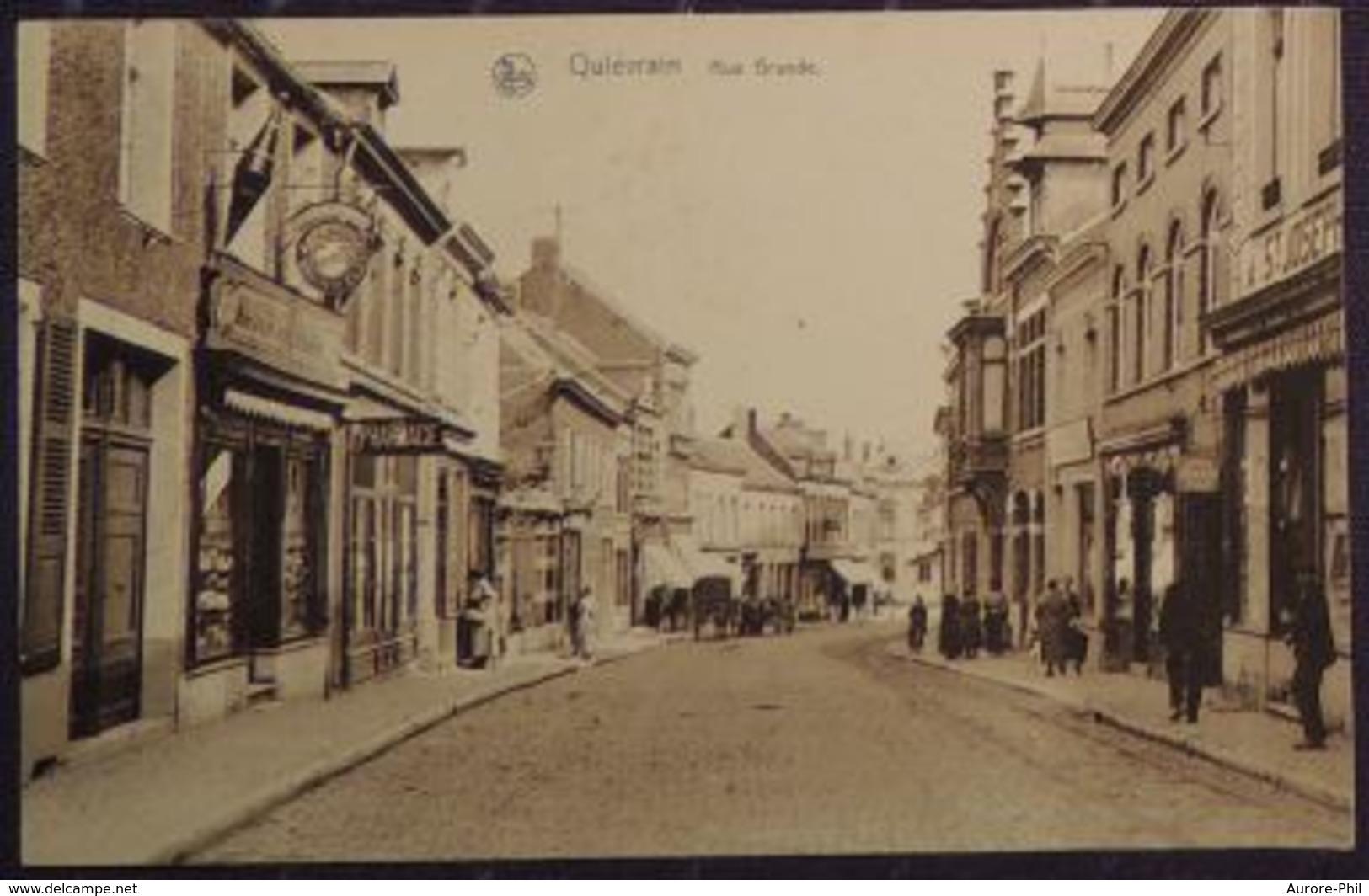 Quiévrain Rue Grande Avec Attelage - Quiévrain