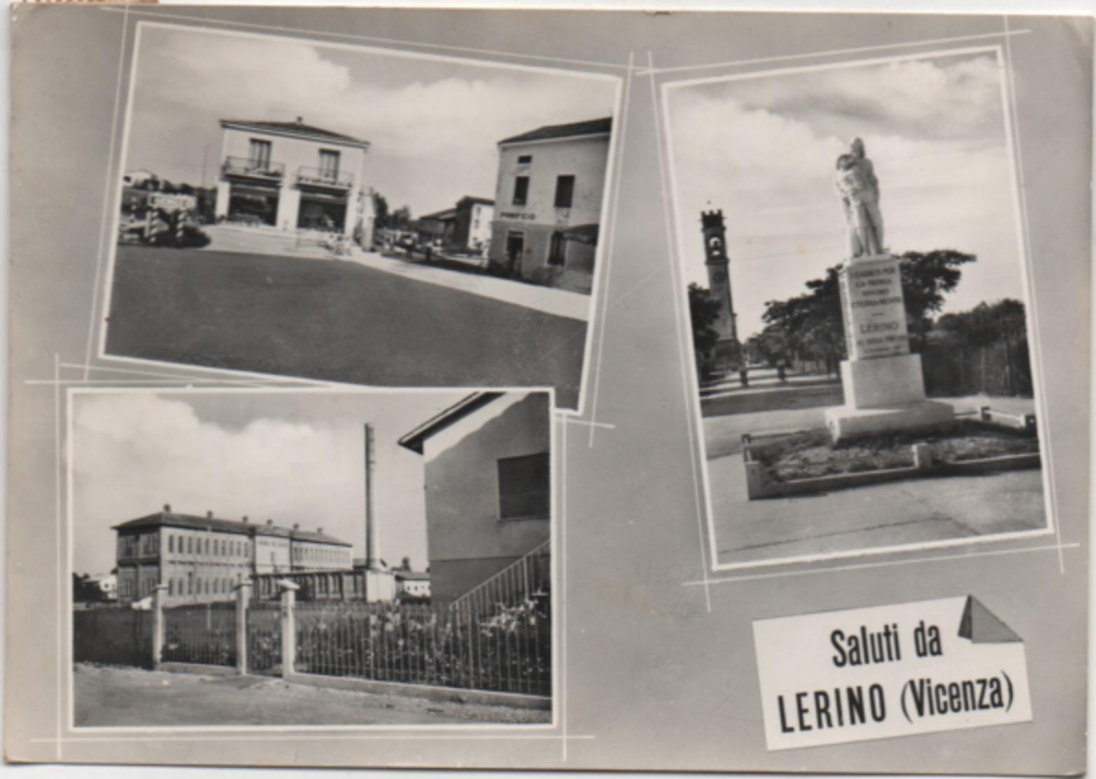 Saluti Da Lerino (Torri Di Quartesolo, Vicenza): Piazza Duomo, Notturno. Viaggiata 1960 - Vicenza