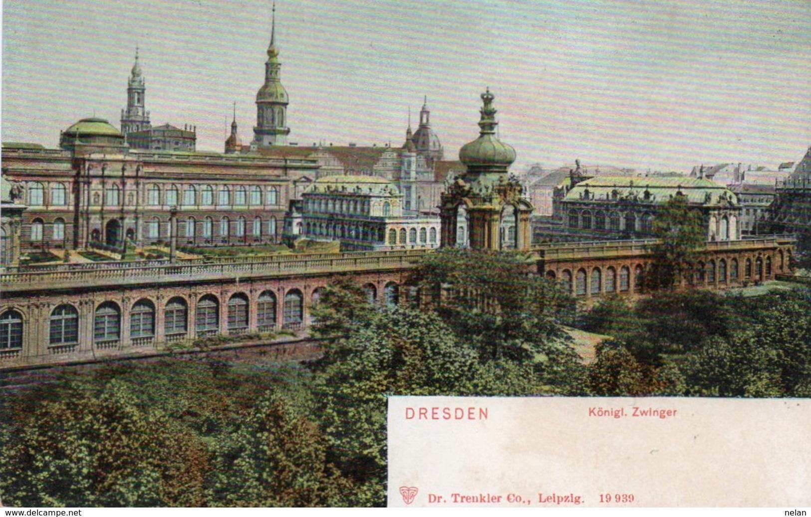 DRESDEN-KONIGL.ZWINGER-1900-NON VIAGGIATA - Dresden
