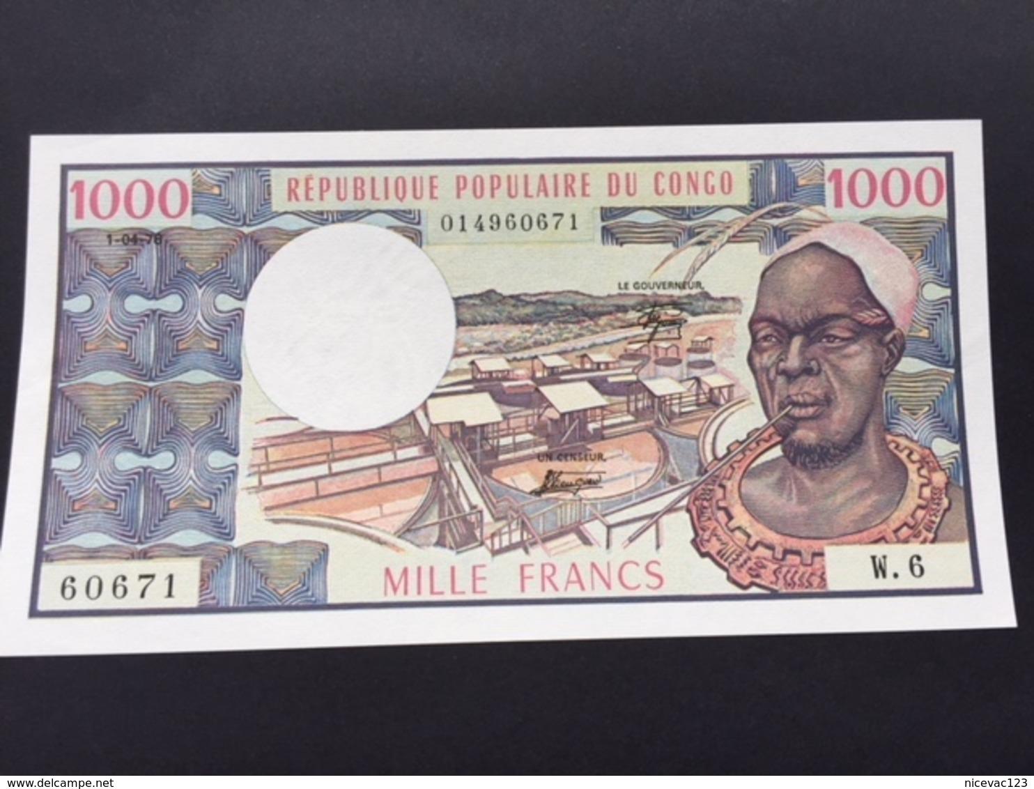 CONGO REPUBLIC P3D 1000 FRANCS 01.04.1978 UNC - Congo