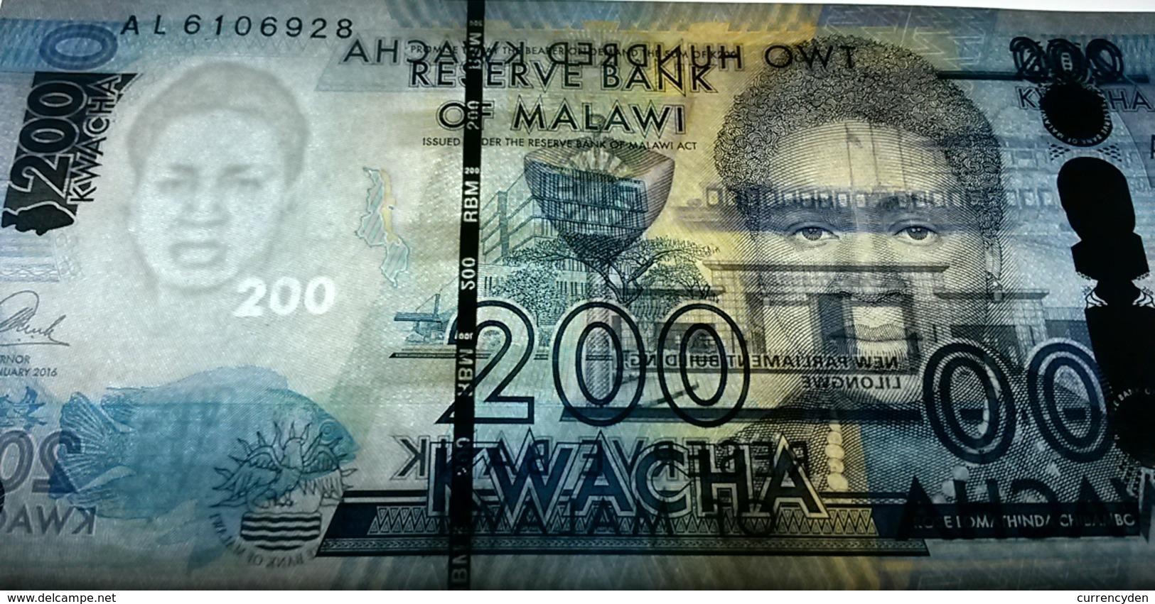 Malawi P65 100 Kwacha, Fish / College Of Medicine, Stethoscope UNC See UV - Malawi