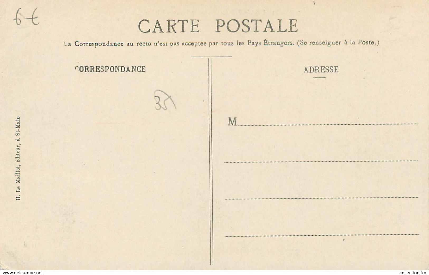 """/ CPA FRANCE 35 """"Saint Lunaire, La Plage Et Le Grand Hôtel"""" / JEUX DE PLAGE - Saint-Lunaire"""