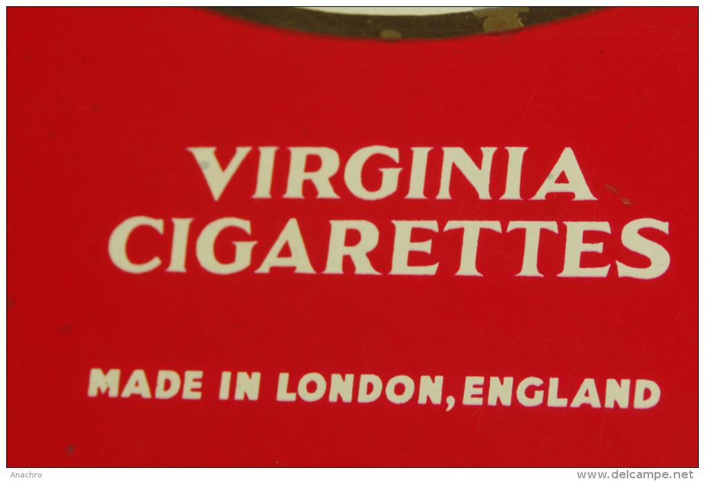 BOITE TABAC CIGARETTES  CRAVEN A CORK Métal Etablissements LONDON VIRGINIA - Boites à Tabac Vides