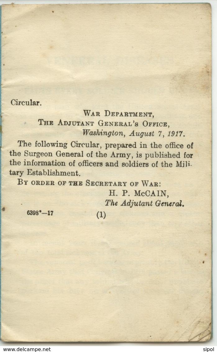 -Venereal Diseases - Facts Every Soldier Should Know ( Maladies Vénériennes , Ce Que Tout Soldat Devrait Savoir ) 1917 - Amerikaans Leger