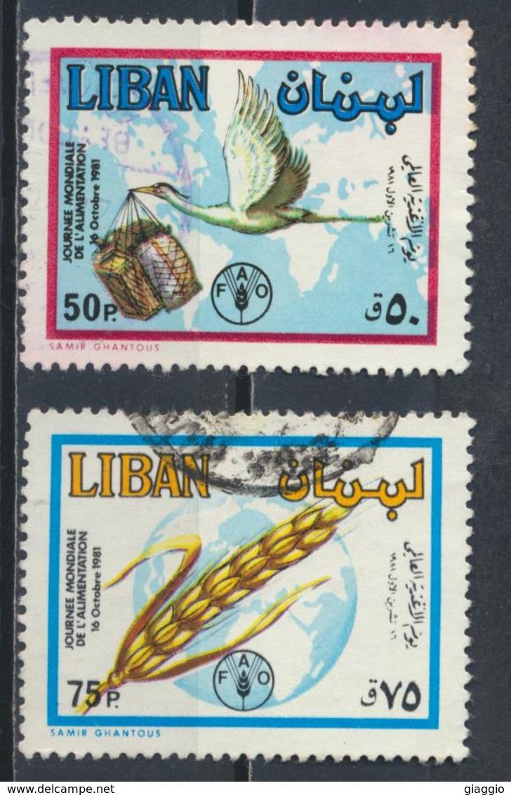 °°° LIBANO LIBAN - YT 282A/B - 1982 °°° - Liban