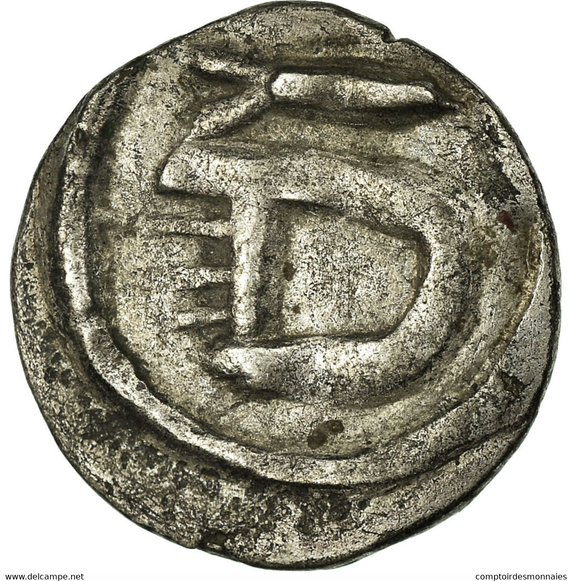 Monnaie, France, Denier, Metz, TTB+, Argent, Belfort:2967 - 470-751 Monete Merovingi
