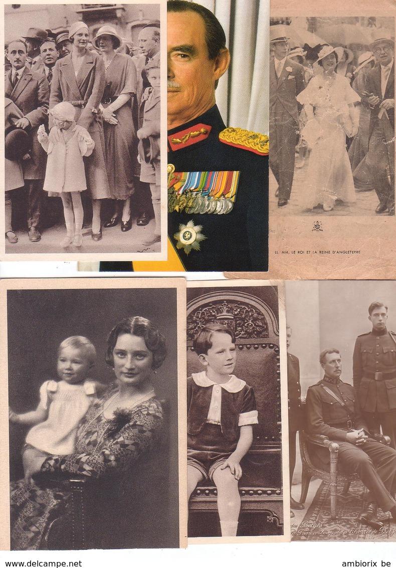Famille Royale Belge - Lot De 45 Cartes Postales Et Photos - Belgique