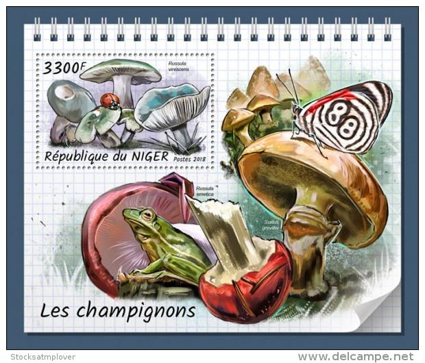 Niger 2018 Mushrooms  S201808 - Niger (1960-...)